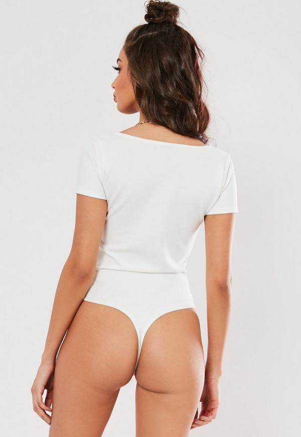 6f696d94c1ede6 White Cupped Frill Edge Bodysuit. Previous Next