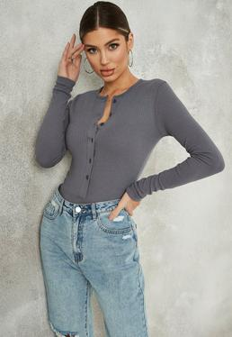 c5668898553d Long Sleeve Bodysuits Online | Missguided
