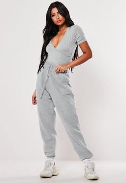 ... Grey Marl Wrap Front Bodysuit 7e737b174