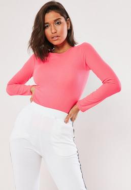 fd12bdb2acc3 Pink Tops | Coral & Baby Pink Tops - Missguided