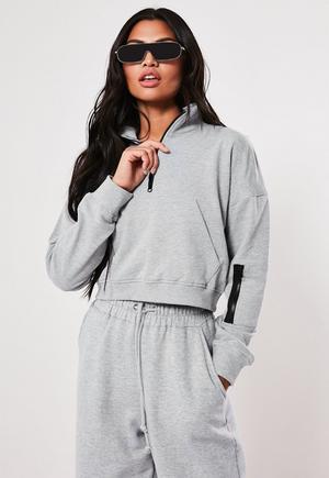 389eb95a05b66 Stone Slogan Crop Sweatshirt | Missguided