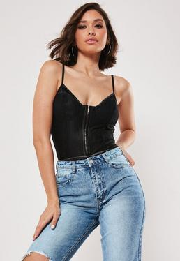 dfaa5f5c847 Black Tops | Plain Black Tops - Missguided