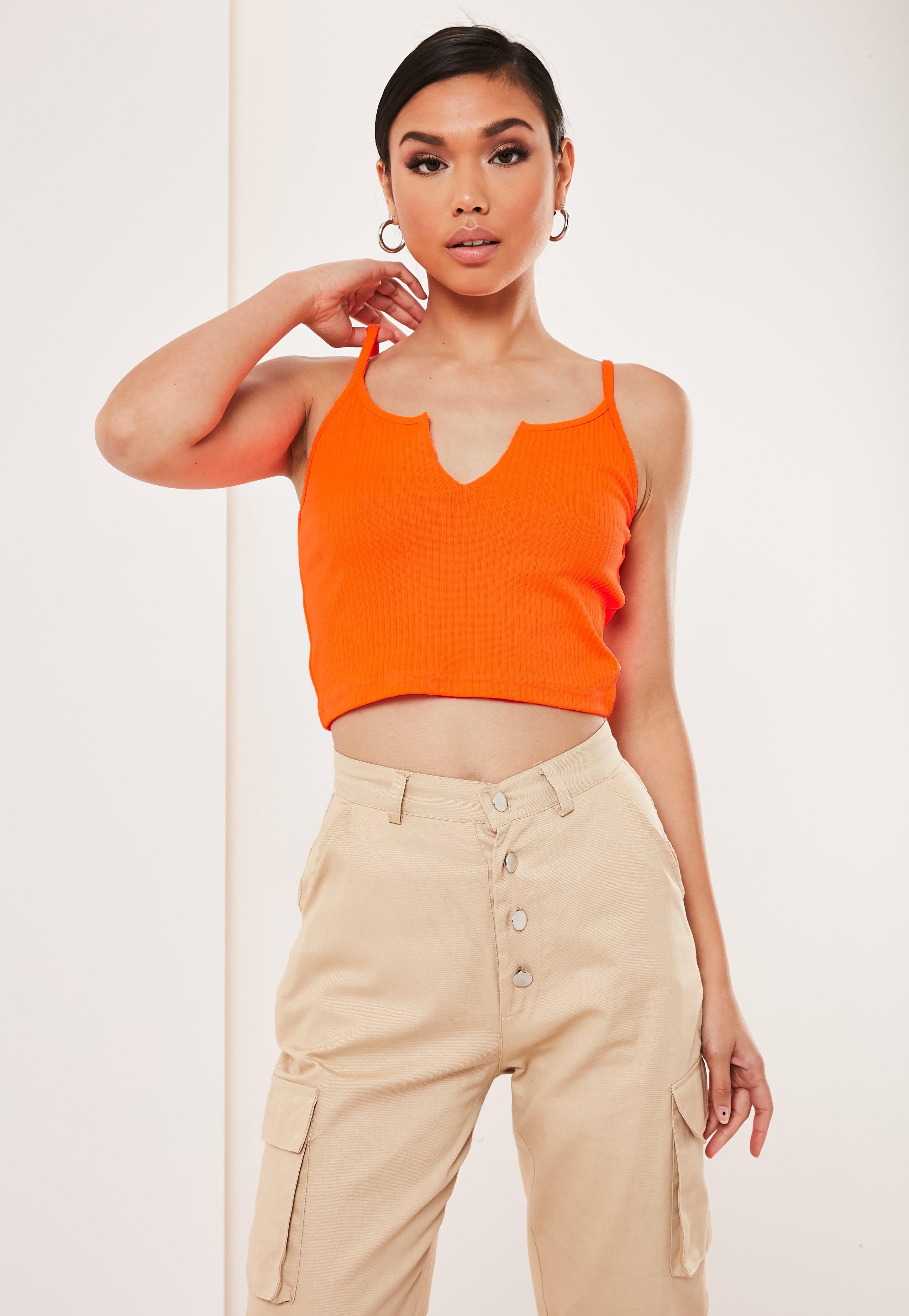 orange bra top