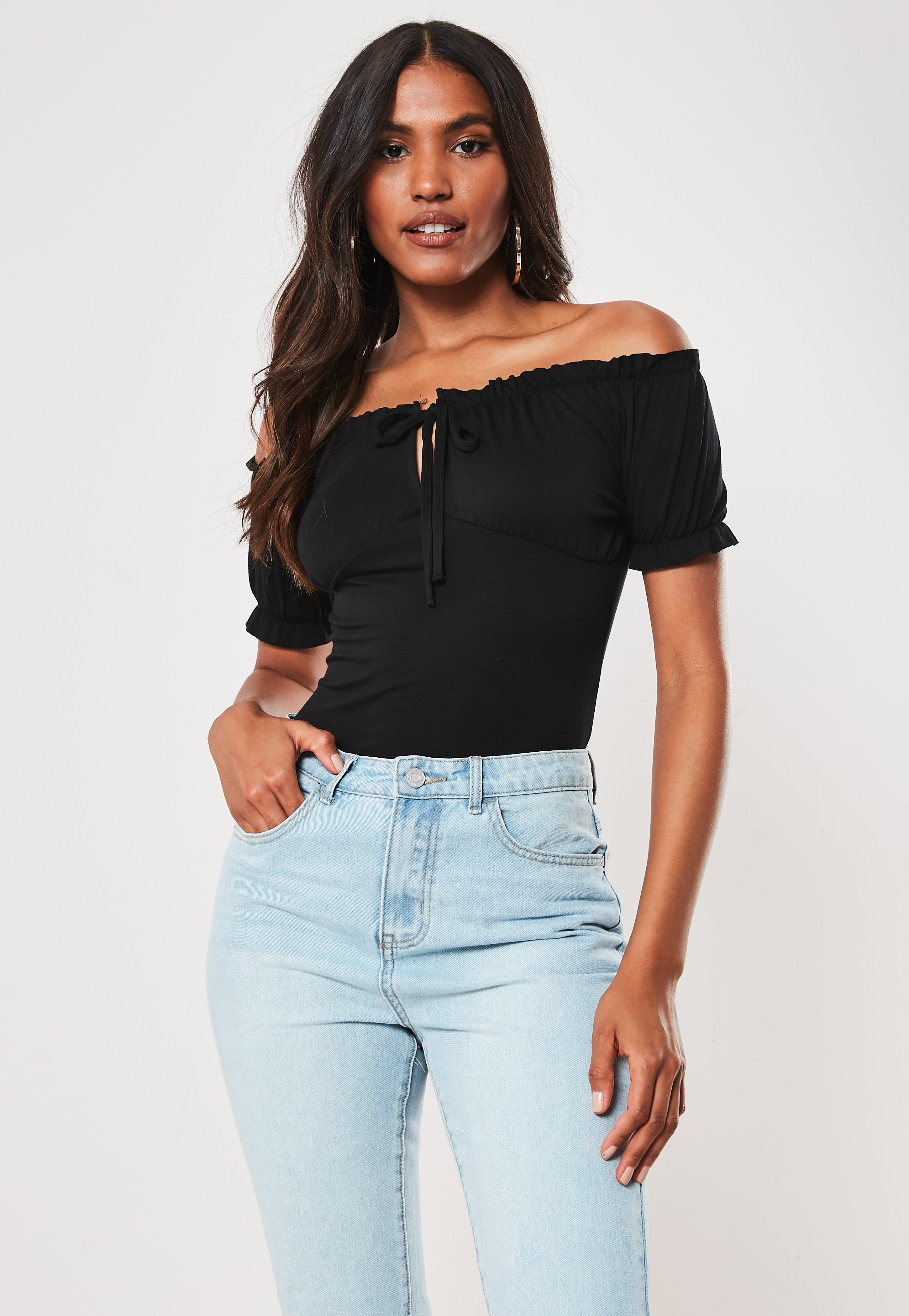 99e9aa2ab61 Bardot Tops - Off the Shoulder Tops | Missguided