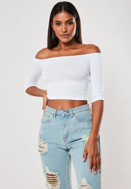 6b41e926a13 Bardot Tops | Off the Shoulder Tops | Missguided