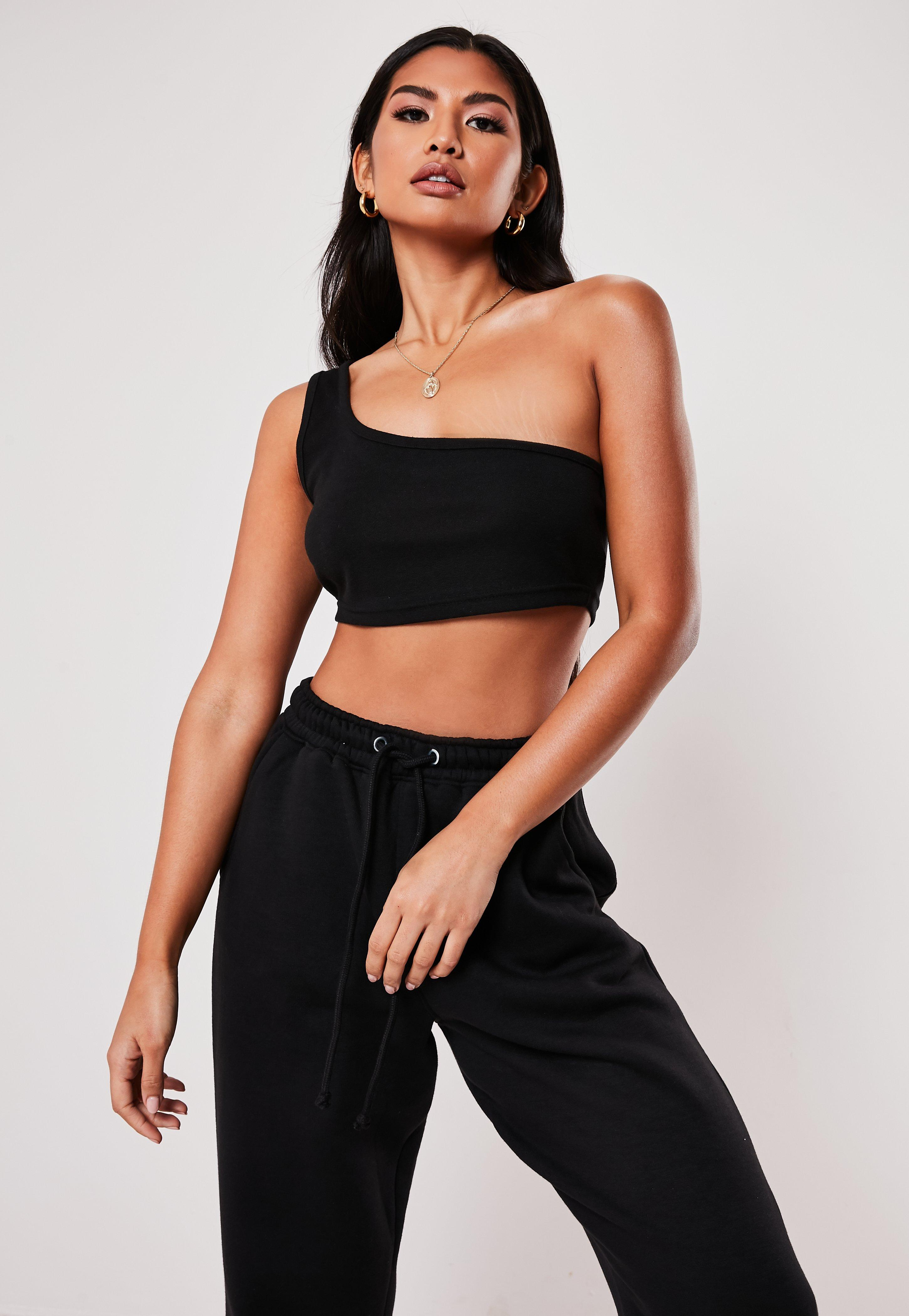 adbcb4941c9 Black Crop Tops | Plain Black Crop Tops - Missguided