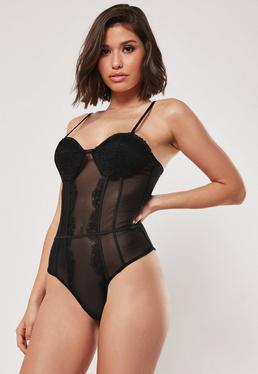 65be8bac85 Black Bodysuits | Black Bodysuits & Leotards Online - Missguided