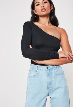 6a1356e1b45 One Shoulder Tops | One Sleeve Tops - Missguided