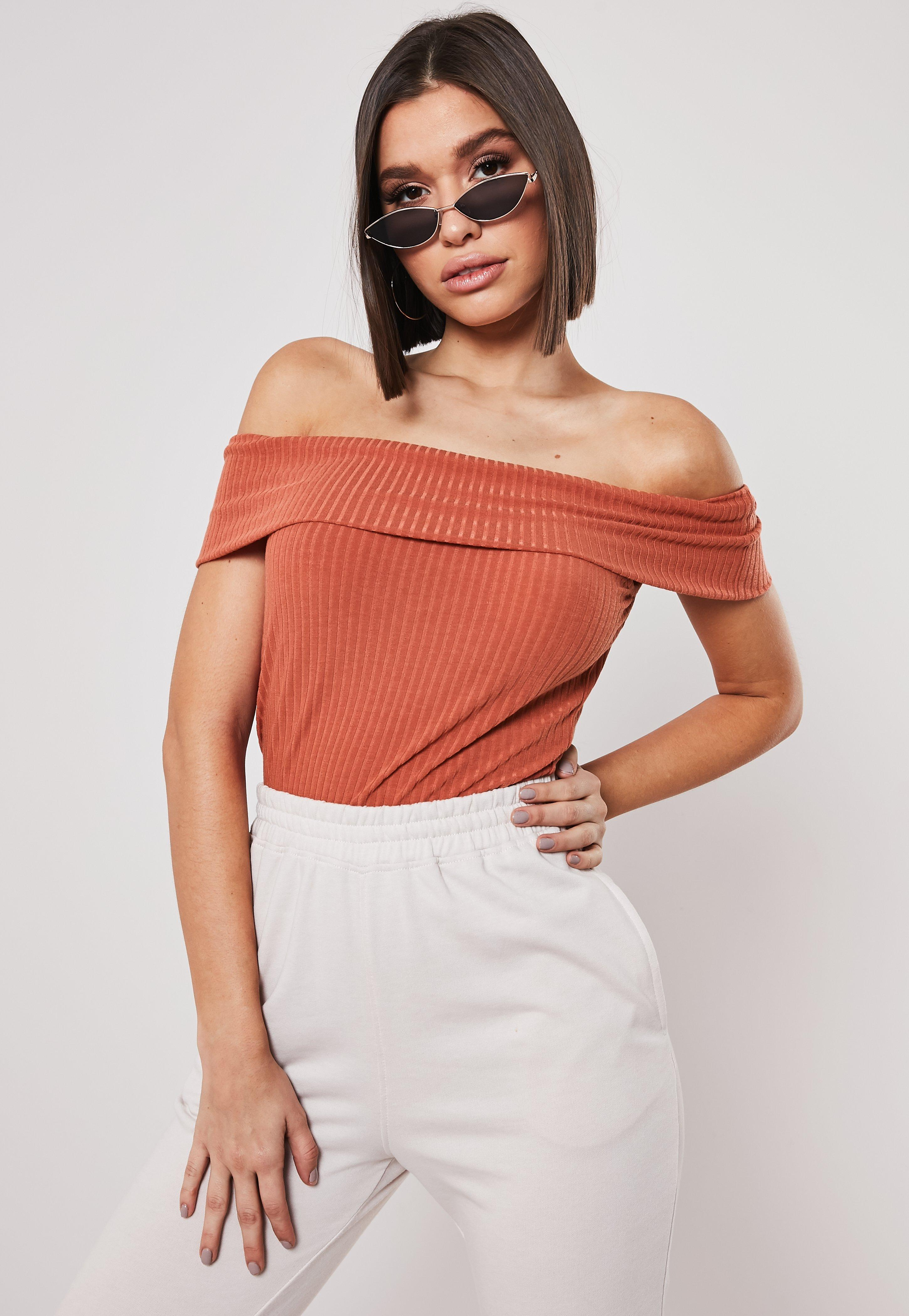 857f363ff8a Bardot Tops | Off the Shoulder Tops | Missguided