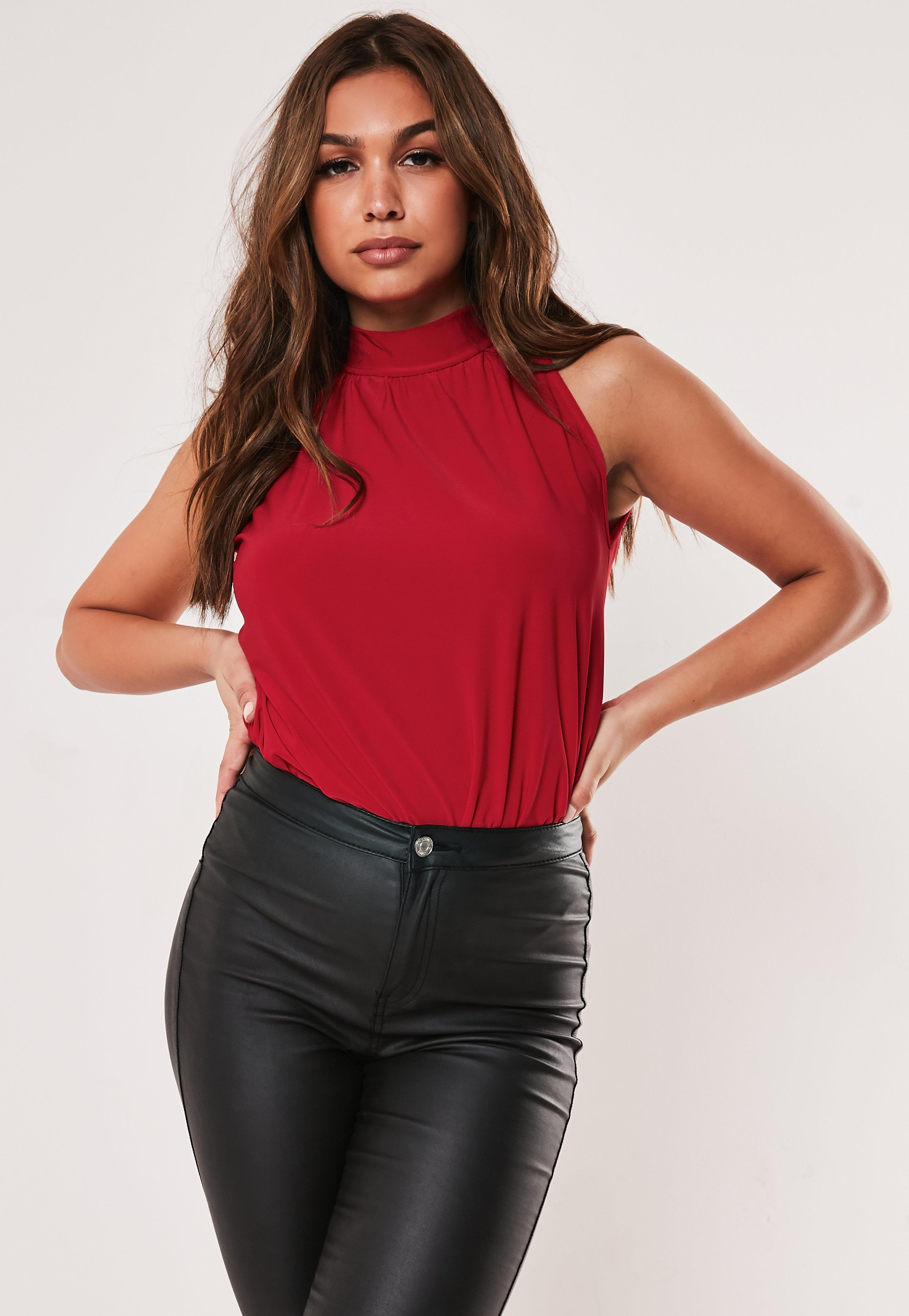 febf46a7cd7588 Red Tops | Burgundy & Maroon Tops - Missguided