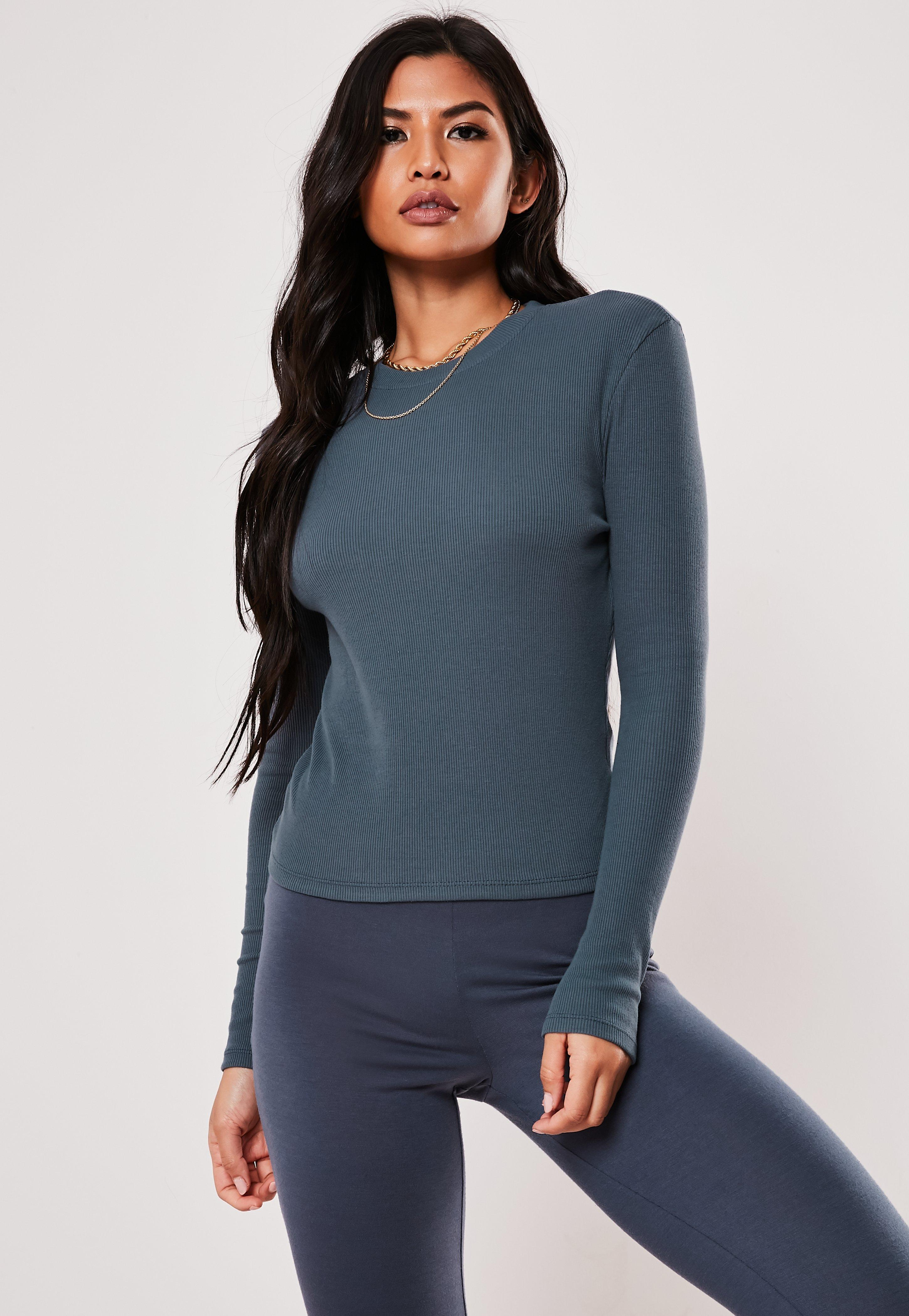 b46322abad1 Blue Tops | Navy & Cobalt Blue Tops | Missguided