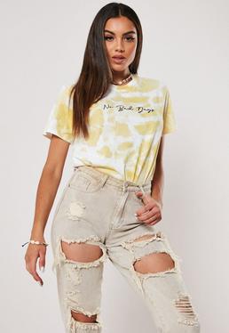 Желтая футболка с рисунком Tie Dye