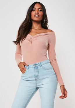53fa86b7b468c4 Off the Shoulder Tops & Bardot Tops - Missguided