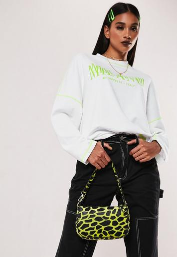 White Milano Contrast Stitch Sweatshirt by Missguided
