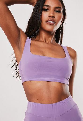 Purple Slinky Bralet by Missguided