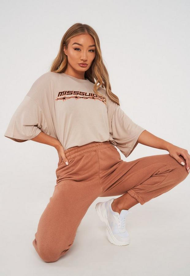 stone missguided barbed wire oversized t shirt