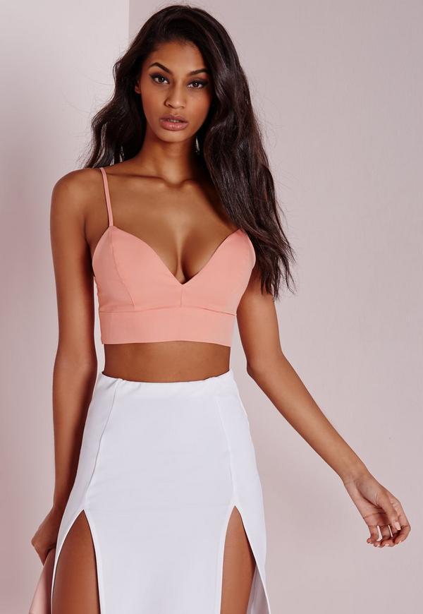 Thin Strap Bralet Pink