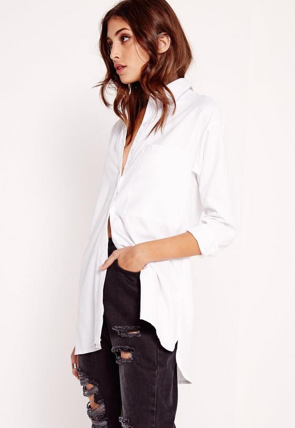 Soft Touch Button Up Shirt White