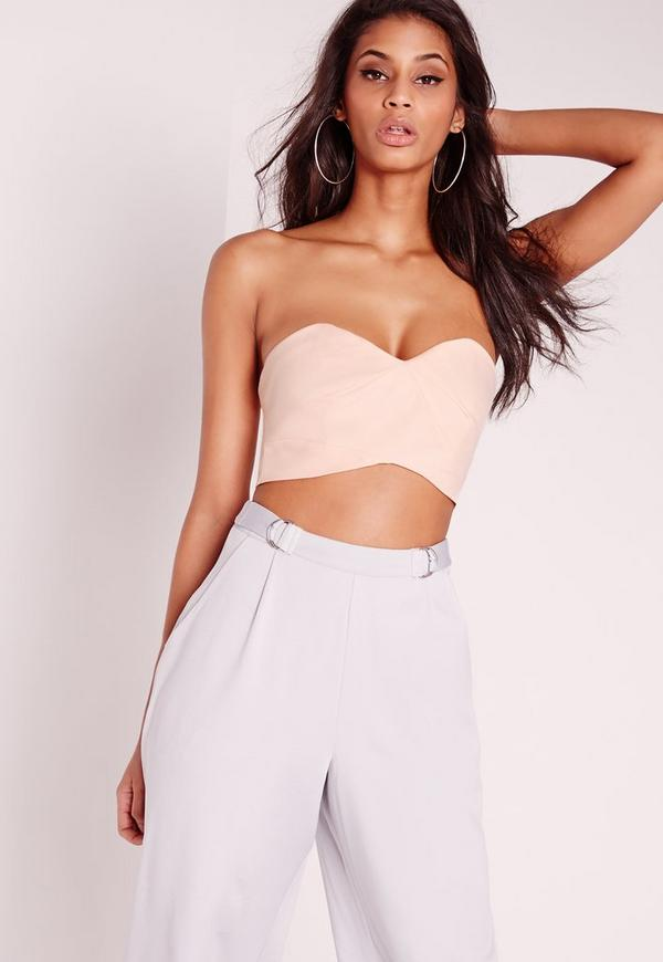 Cut Out Bralet Nude