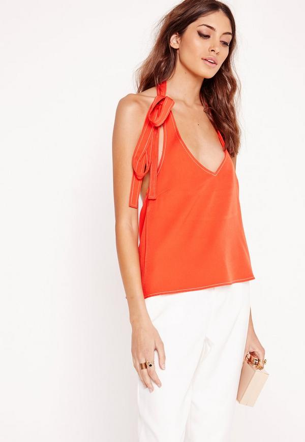 Halterneck Cami Top Orange