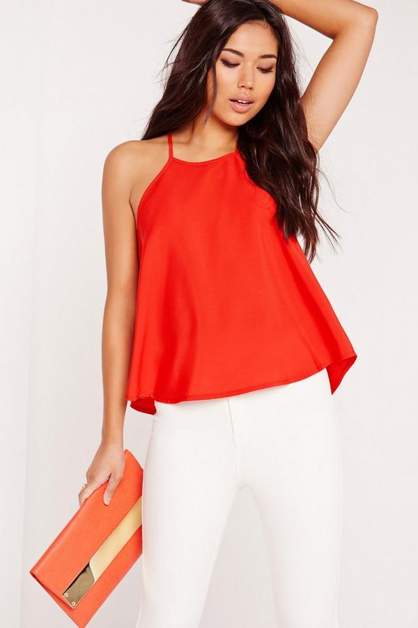 Swing Cami Top Tomato Red