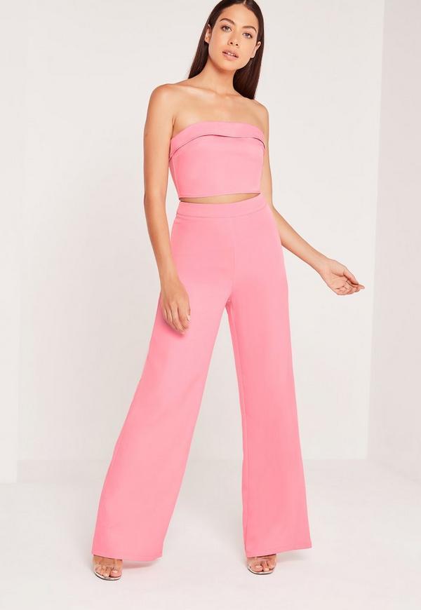 Bandeau Fold Bralet Pink
