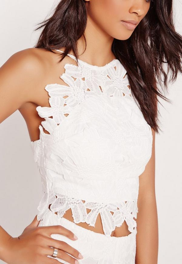 Flower lace crop top white missguided flower lace crop top white previous next mightylinksfo