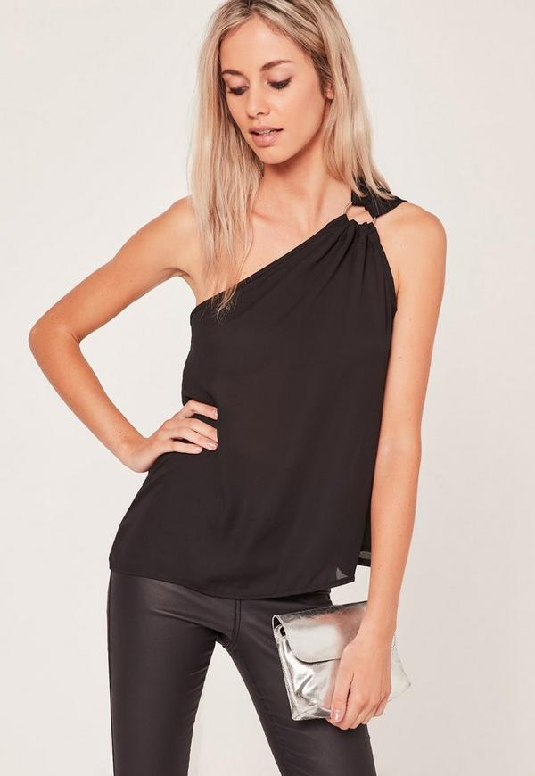 Find and save ideas about One shoulder tops on Pinterest. | See more ideas about Off one shoulder tops, Going out crop tops and Black one shoulder top. Lavish Alice Tier's Lookin' at You One Shoulder Top | Shop Clothes at Nasty Gal! See more. from Nasty Gal. 1 .