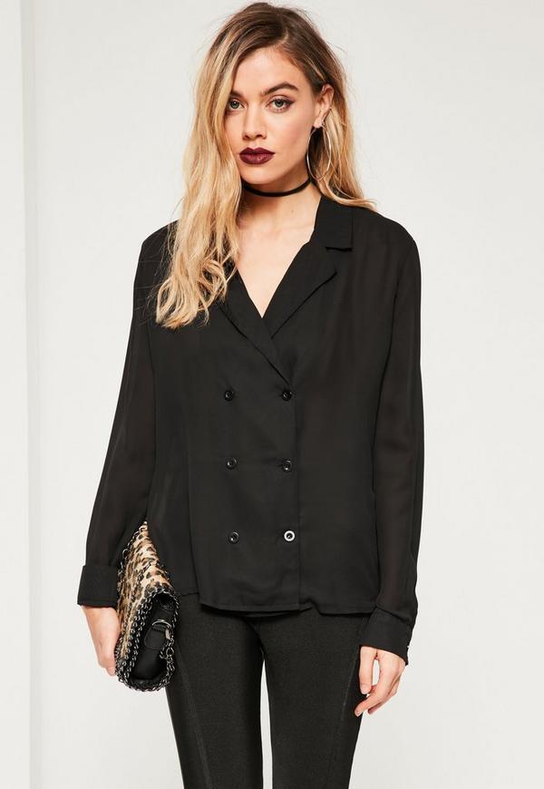Blazer Shirt Black