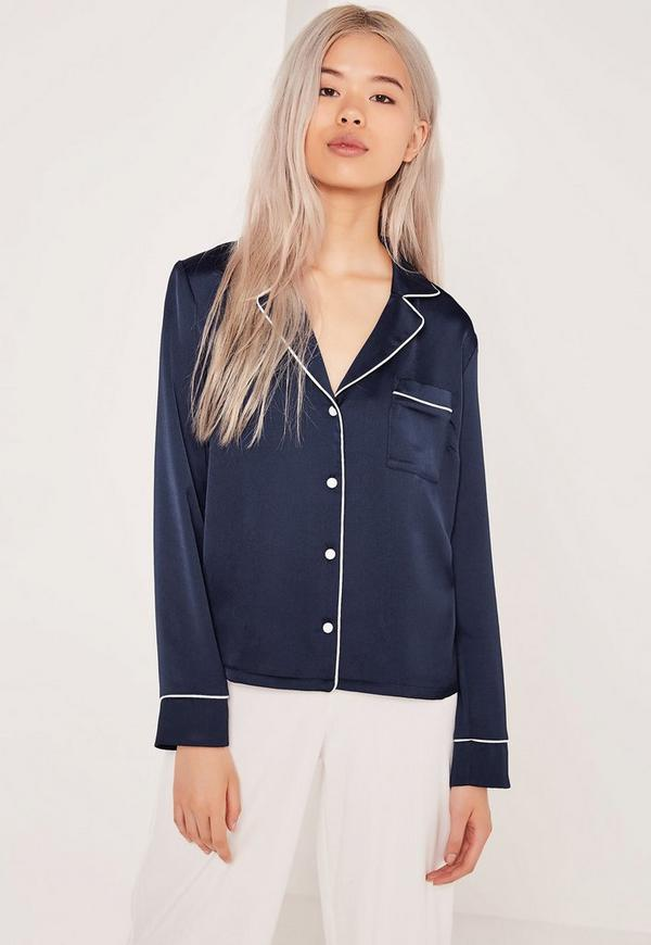 Pyjama Blouse Navy