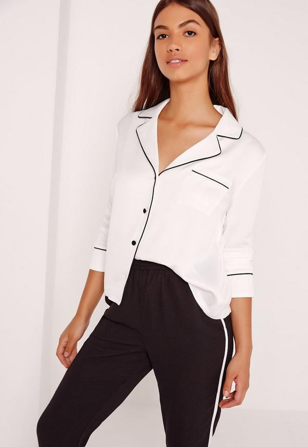 Blouse Blanche Style Pyjama Missguided