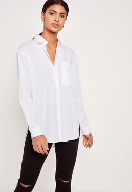 Chemise blanche en popeline de coton