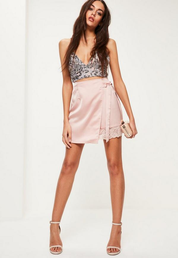 Silver Sequin Bralet Missguided