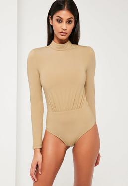 Peace + Love Nude High Neck Bodysuit