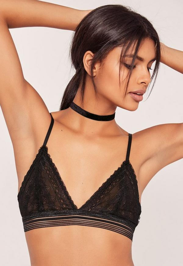 Lace Bralet Black