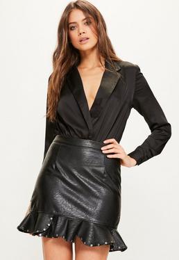 Black Blazer Bodysuit