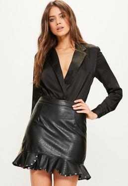 Black Blazer Bodysuit