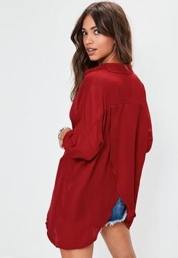 Burgundy Oversized Shirt