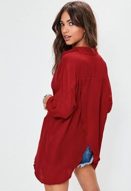 Burgundy Oversized Shirt