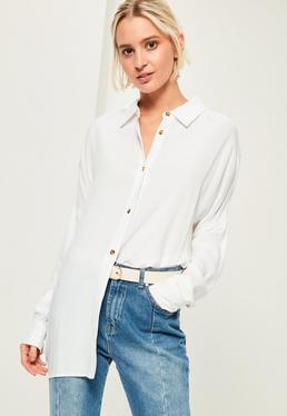 Biała owersajzowa koszula