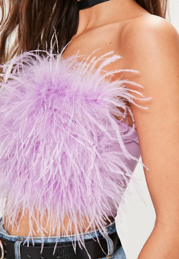 Purple Feather Bandeau...Ostrich Feathers For Sale
