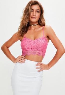 Pinkes Spitzen-Bralette
