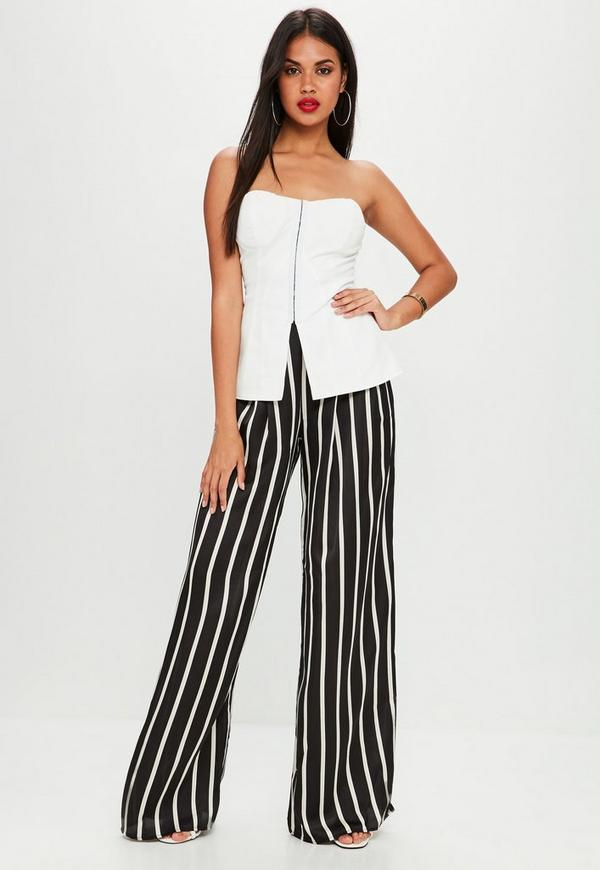 White Corset Structured Sleeveless Top | Missguided