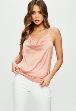 Nude Cowl Front Cami Top