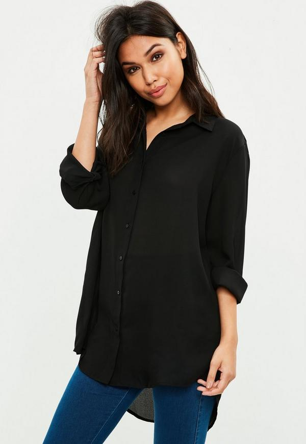 Black Chiffon Embroidered Shirt. 42,00 €. Previous Next