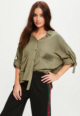 Khaki Utility Casual Shirt