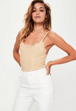 Nude Lace Overlay Bodysuit