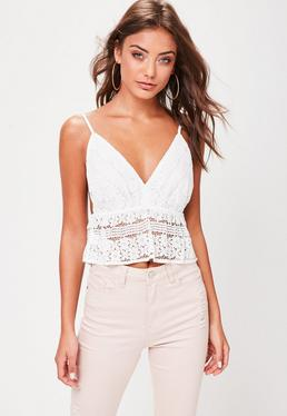 White Lace Cami Bralet