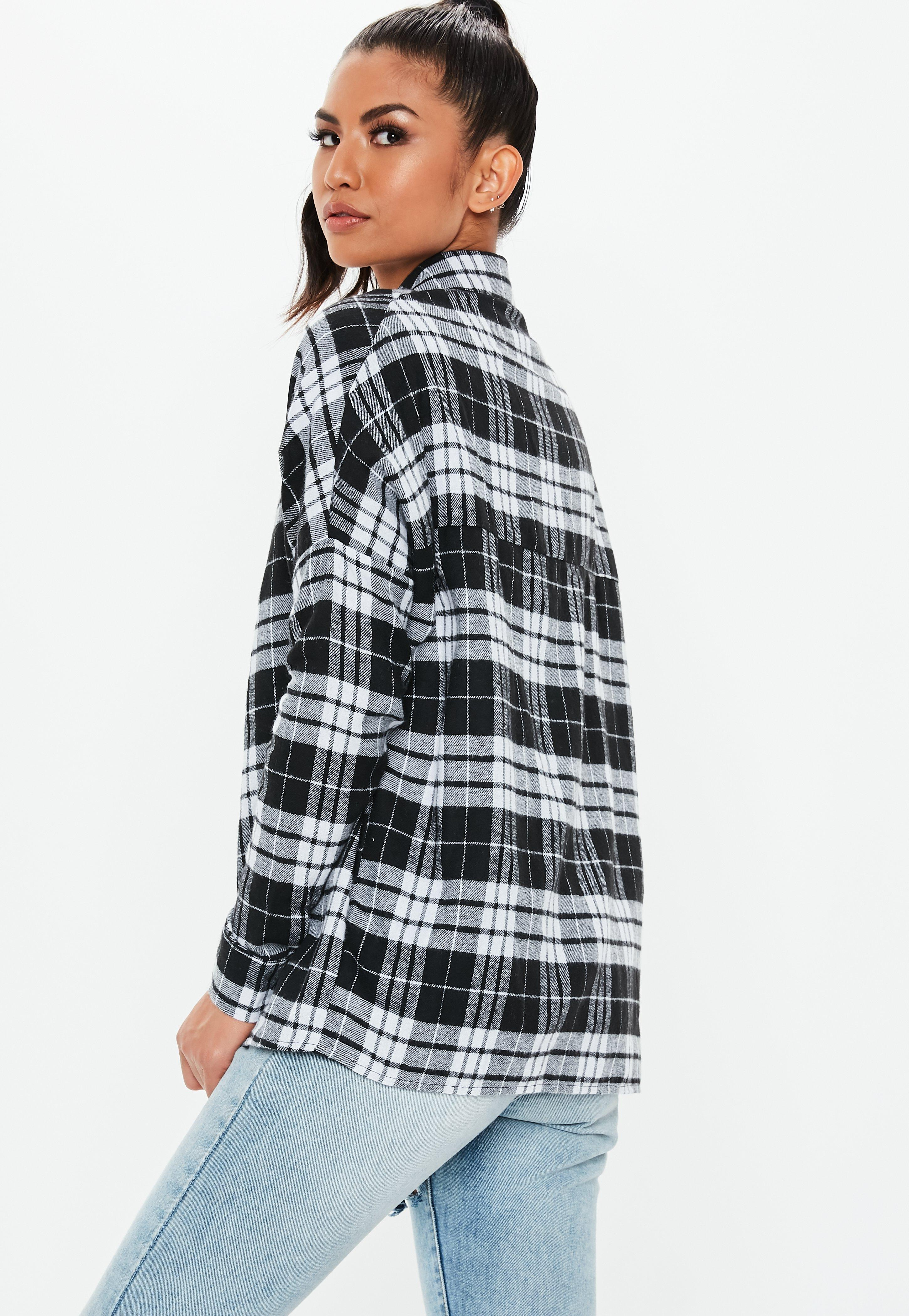 Free Shipping 100% Original Sale Order Missguided Black Checked Shirt Clearance Original Cheap How Much Sale New Arrival nEU9o
