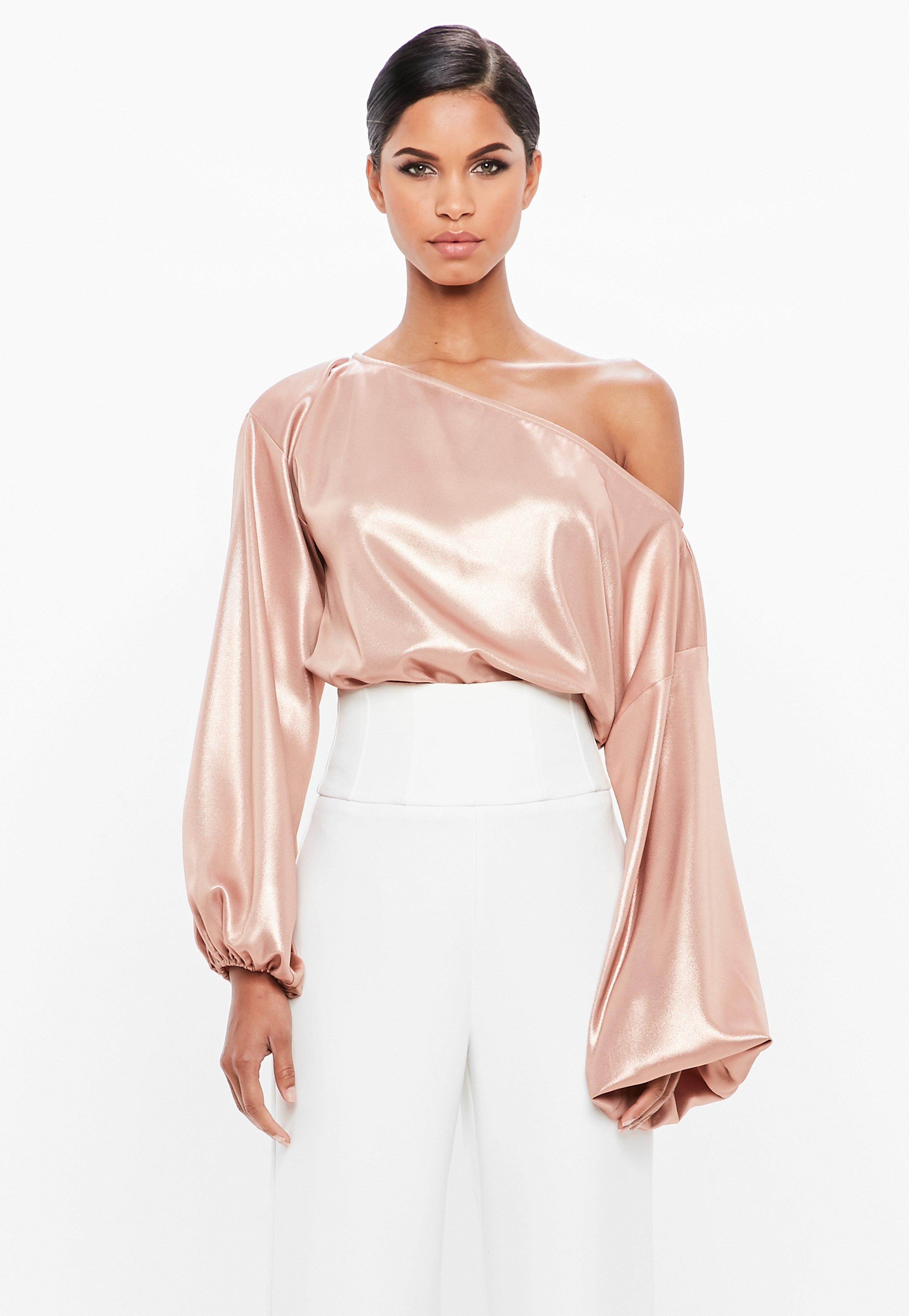Missguided Pink Bardot Balloon Sleeve Bodysuit Fashion Style Sale Online Factory Outlet Cheap Online 8m0QSmeu